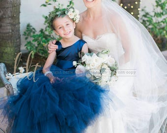NEW! The Juliet Dress in Navy - Flower Girl Tutu Dress