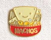 Nacho Lover Pin - Lapel Pin - Enamel Pin - Shiny Gold Metal - Gift for Nacho Lover - Kawaii Flair Pin - EP2098