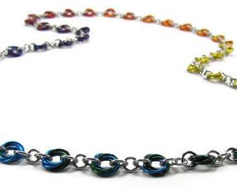 Ombre Color Wheel Necklace