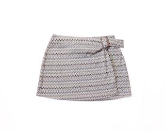 90s Mini Skirt 1990s Express Knit Zig-Zag Striped 60s Mod 1960s Carnaby Street Ye-Ye Soft Grunge Pastel Goth Kinderwhore Kawaii Large
