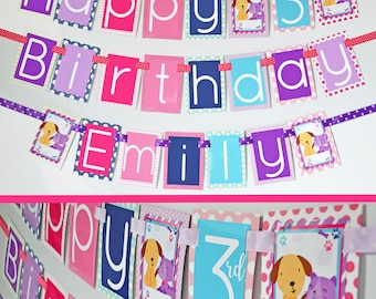Puppy & Kitty Birthday Party Banner Fully Assembled Decorations | Puppy and Kitten Birthday | Puppy and Kitty | First Birthday Party |