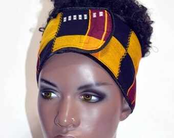 Sista African Inspired Wrap Cap- Satin Lined-Wrapped Hair