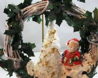 Happy Holidays Santa with a Tree Ornament 201