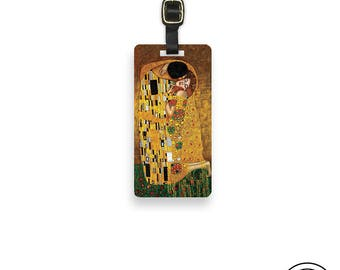 Luggage Tag The Kiss Luggage Tag With Custom Info On Back , Single Tag Fine Art Reproduction