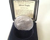 Almost Vintage Y2K Commemorative Silver Dollar .999 Liberty Walking in Original Case