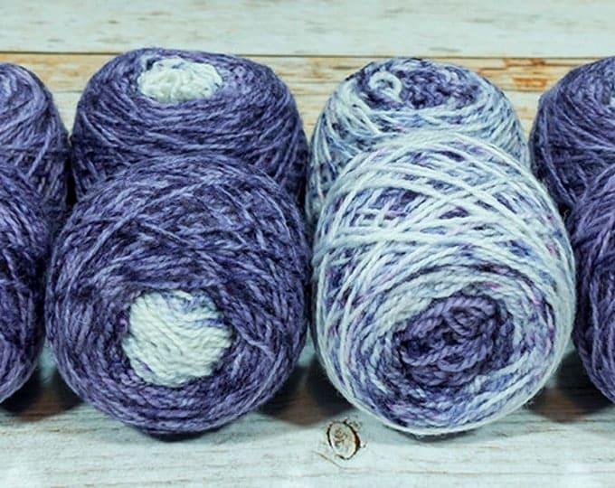 "Fraternal Shorty Sock Twins "" Midnight Hour "" - Llark Handpainted Gradient Speckle Sock Yarn"
