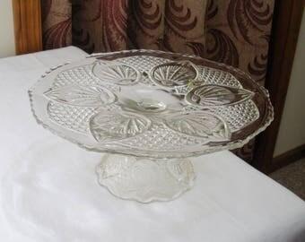 Vintage Fenton Pedestal Cake Plate - Cake Stand
