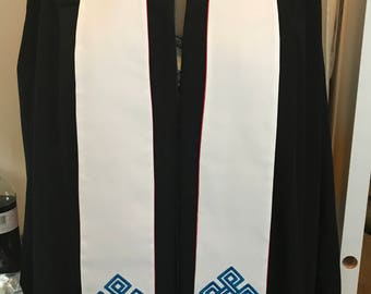 Clergy Stole with Endless Knot for Weddings or Funerals