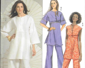 Butterick 5048 Fast and Easy ,Very Easy Pull-over Tunic and Elastic Waist Pants (8-14)