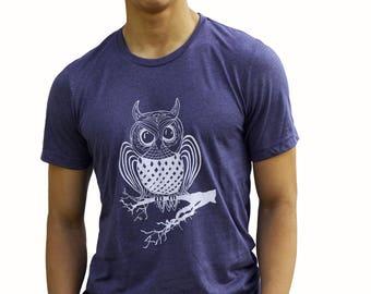 OWL   Soft Lightweight T Shirt   crew and V-neck