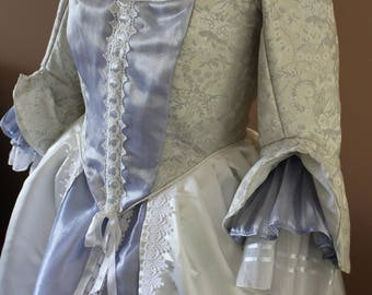 """Bust 44"""" Marie's Wedding Dress Ever After Renaissance Medieval Gown Game of Thrones Theme Antoinette Roccoco Tudor"""