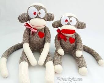 Traditional Brown Rockford Red Heel Sock Monkey