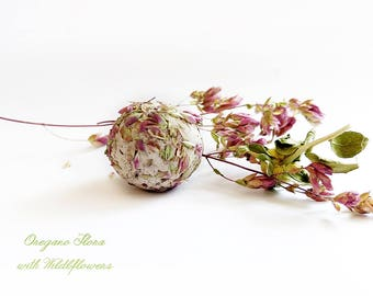Oregano Flora Seed Bombs with Wildflower Seed To attract bees and butterflies 16 Flower Bombs Gift for Gardening or for Party Favors