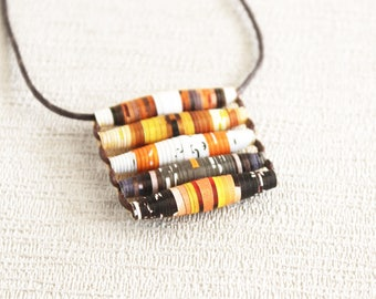 Food magazine necklace • Unusual jewelry • Gift for chef • Foodie gift • Gift for cook • Cooking gift • Funky necklace • Uncommon jewelry