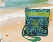 Barbados Bag Pattern - Purse Shoulder Bag Pattern - Fat Quarter FQ Friendly Pattern - Pink Sand Beach Designs
