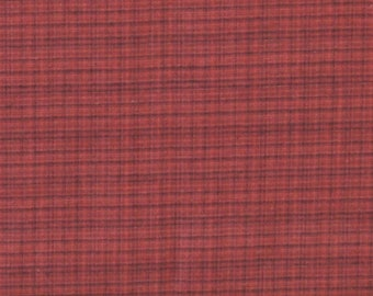 Red Plaid Yarn Dye 100% Cotton Quilt Fabric for Sale, Kim Diehl's Helping Hands Yarn Dyes Collection, HEG6890Y-88