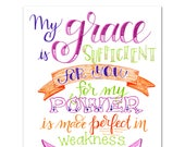 Grace is Sufficient Printable
