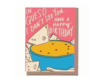 Queso Birthday Card