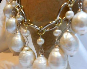 Baroque Drop Pearls Necklace Set