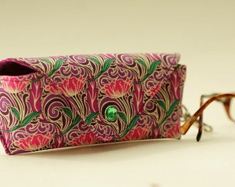 NEW Glasses case/ Eyeglass case/ sunglasses case/ reading glasses case/Liberty fabric/geometric/tulips