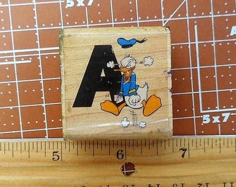 A is for Angry  Donald Duck  Stamp by Rubber Stampede No 467-C