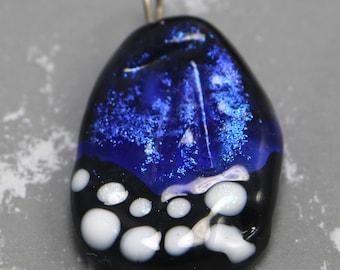 Blue Morpho Butterfly Wing focal bead