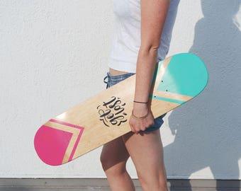 Hand Lettered Skate Deck - Get lost - Illustrated Skateboard Art