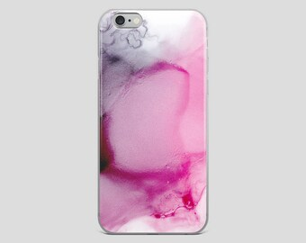 Pink Ocean - Alcohol Ink Fluid Art Abstract iPhone Case