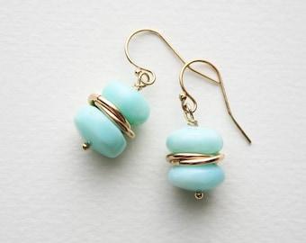 Peruvian Opal Earrings, Opal Earrings, Gemstone Earrings, Gemstone Jewelry
