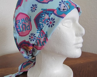 Pup Power Tie-back Surgical Scrub Hat