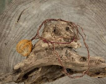 Garmir, handmade fiber art necklace