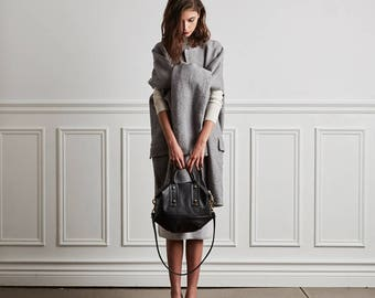 Soft Leather Handbag OPELLE mVanda Mini Convertible Doctor bag