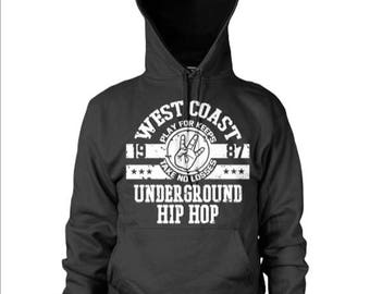 West coast Underground hip Hop Hoodie by PAWZ ONE