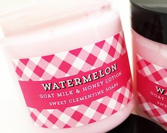 Watermelon Lotion, Hand and Body Cream, Moisturizer, Melon, Honeydew, Mango, Papaya