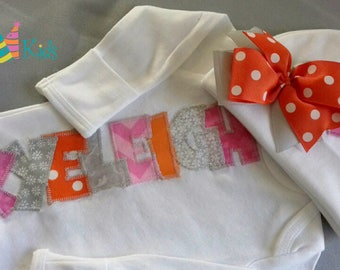 Baby girl photo outfit, infant girl clothes, newborn girl coming home outfit, baby gown monogrammed