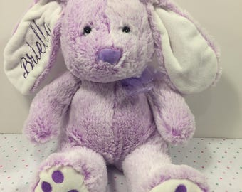 TAN Large Embroidered and Personalized Plush Easter Bunny