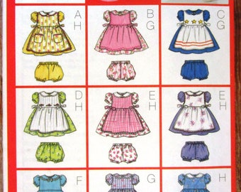 Very Easy to Sew Infant Girls Pinafore, Dress and Panties Sizes L XL Butterick Pattern 6483 UNCUT