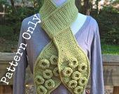 Tentacle Scarf - Crochet Pattern - PDF - Octopus - Squid - Suckers - Two Versions - Easy - Beginner - Nerdy - Geeky