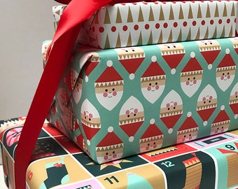Holiday Gift Wrap / Christmas Gift Wrap / Gift Wrap Sheets / Wrapping paper / Set of 3