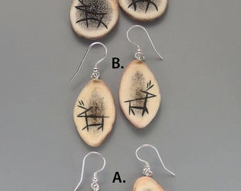 Cave Painting Caribou Earrings