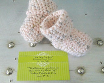 Baby Girl Socks, Crochet tube Socks, Baby Booties, Baby Shower Gift, New Baby Gift, Ready to Ship, Comes in Cotton Keepsake Bag