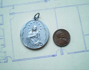 Missionary Oblates of Mary Immaculate - Vintage Medal or Pendant - Metal - Evangelizare pauperibus misit me pauperes evangelizantur