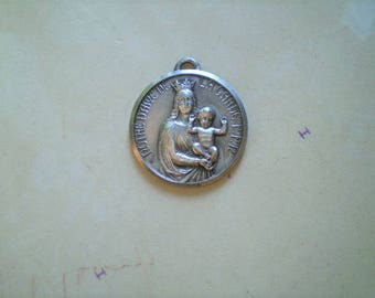 Notre Dame De La Garde - Vintage Medal or Pendant - Round - Metal - Our Lady - French - Catholic - Holy Charm