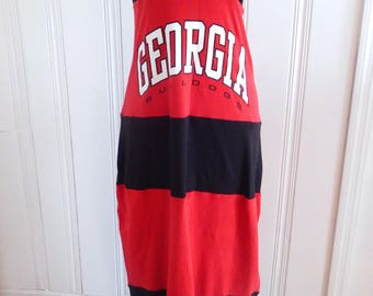 One of Kind Gameday Maxi Dress made w/ UGA Tshirt - Medium - On Sale and Free Shipping