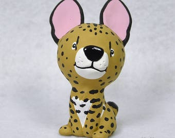 Hand Sculpted Serval Derp Figurine