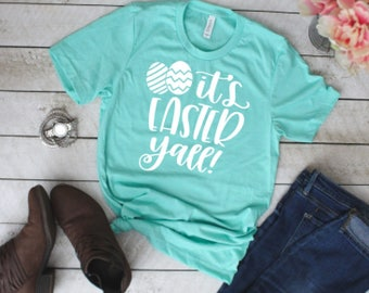 It's Easter y'all blue short sleeve unisex crew neck tee