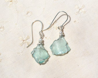 Earrings Roman Glass with Pearls Silver Earrings Roman Glass Jewelry Silver Jewelry Israeli Earrings Roman Glass Free Shipping HKart1 Israel