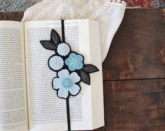 SUMMER SALE Flower Bookmark - Reader Gift - Best Friend Gift - Teacher Gift - Teacher Appreciation Gift - Bookclub Gift - Unique Bookmark -
