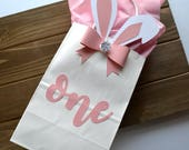 Bunny Favor Bag - Some Bunny is One Party Decor - Bunny Party Favors