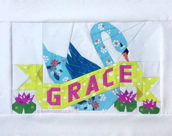 GRACE tattoo quilt PDF pattern